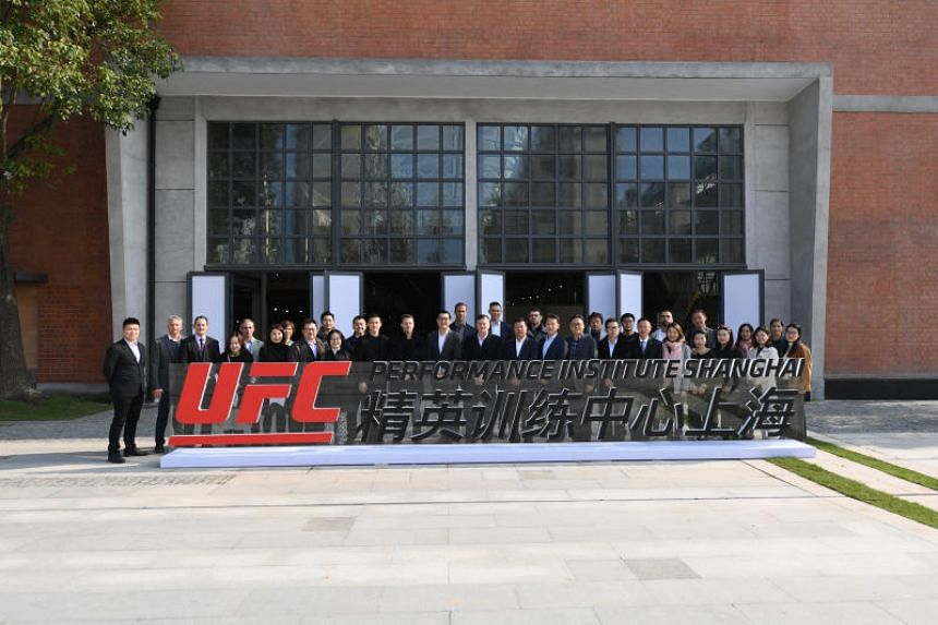 UFC officials at the launch of the UFC Performance Institute Shanghai on Nov 20, 2018.