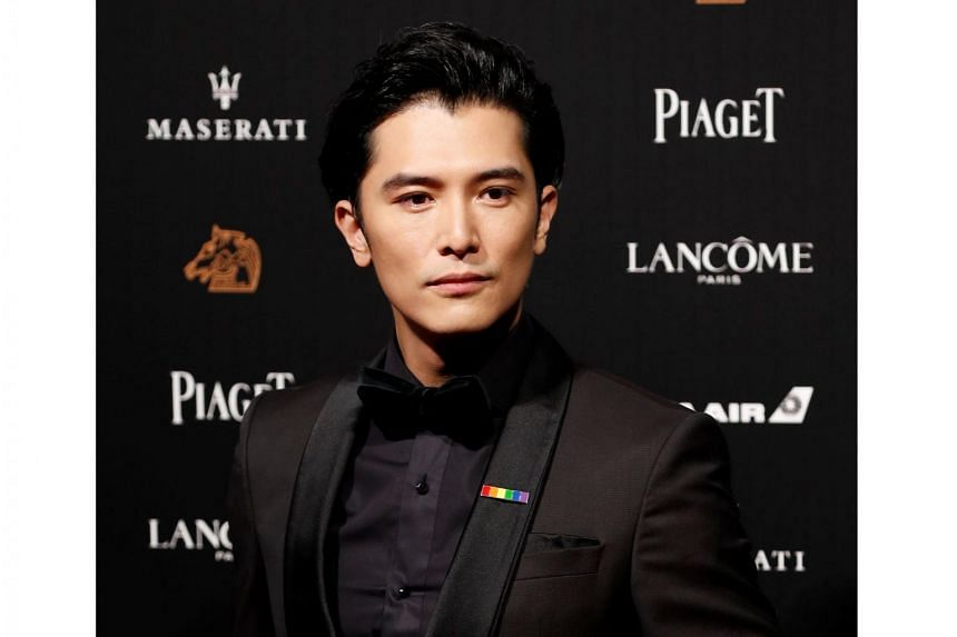 Taiwanese actor Roy Chiu poses on the red carpet at the 55th Golden Horse Awards in Taipei, on Nov 17, 2018.