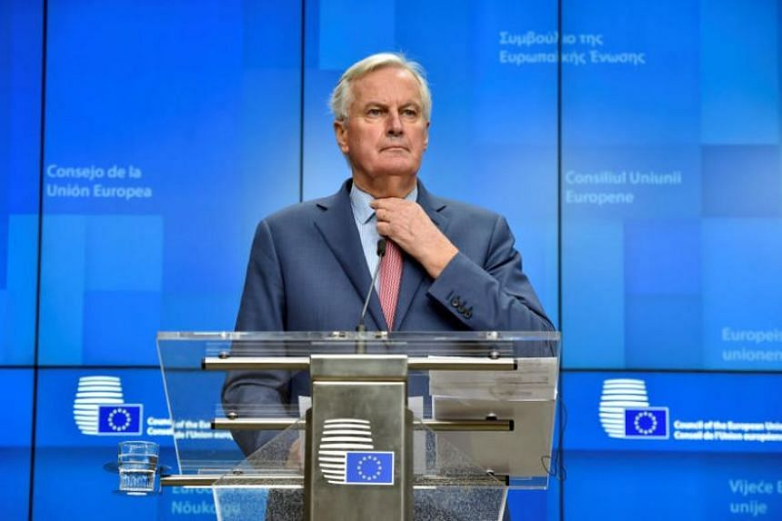 European Union's chief Brexit negotiator Michel Barnier holds a news conference in Brussels, Belgium, on Nov 19, 2018.