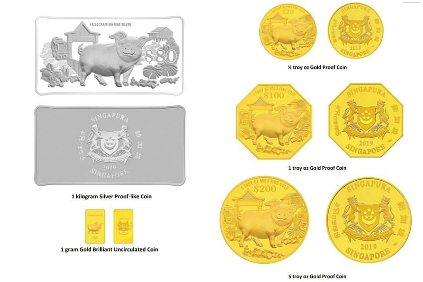 The coins will be available in 10 different versions, comprising various metallic compositions, minting relief effects and shapes.