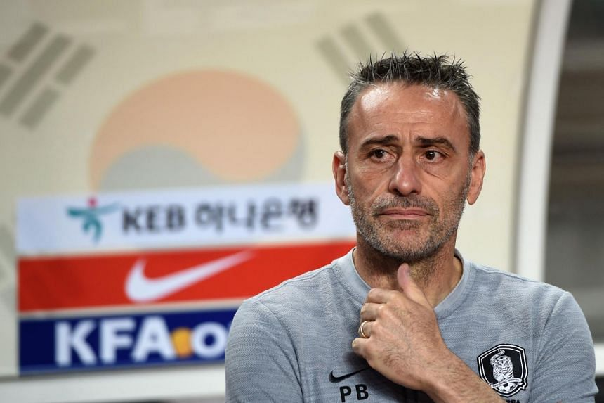 South Korea's coach Paulo Bento during a friendly football match between South Korea and Costa Rica in Goyang, Seoul, on Sept 7, 2018.