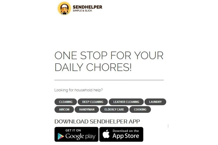 Sendhelper enables individuals, service providers and households to book and pay for home services.