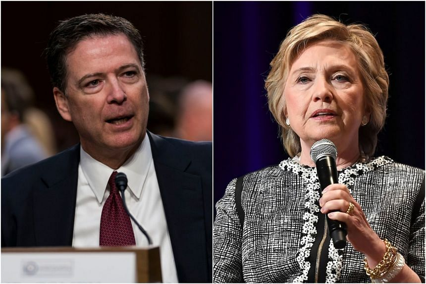 US President Donald Trump said he wanted to order the Justice Department to prosecute his political adversaries James Comey (left) and Hillary Clinton.