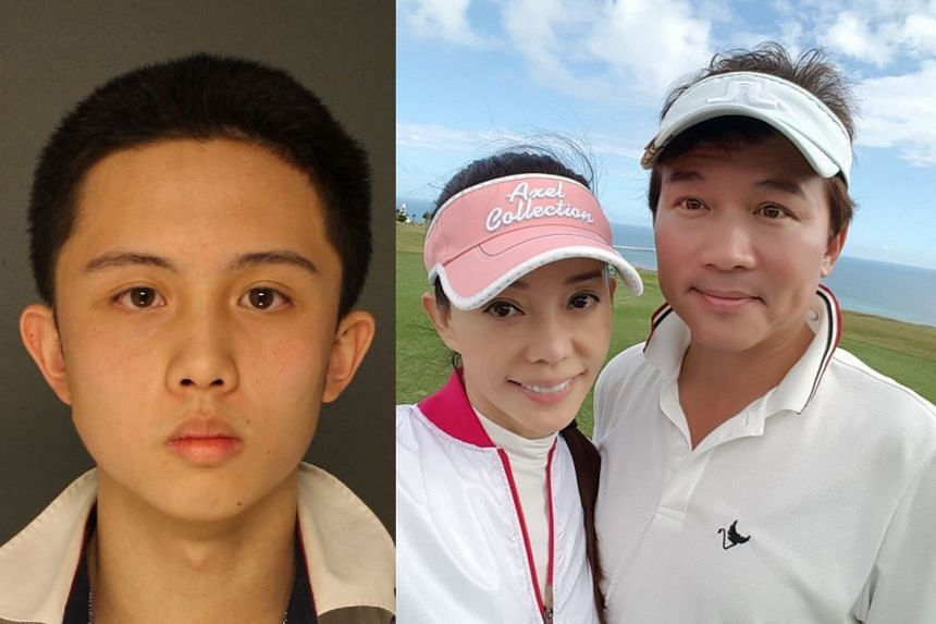 Sun An-Tso (left) and his parents (right) Sun Peng and Di Ying.