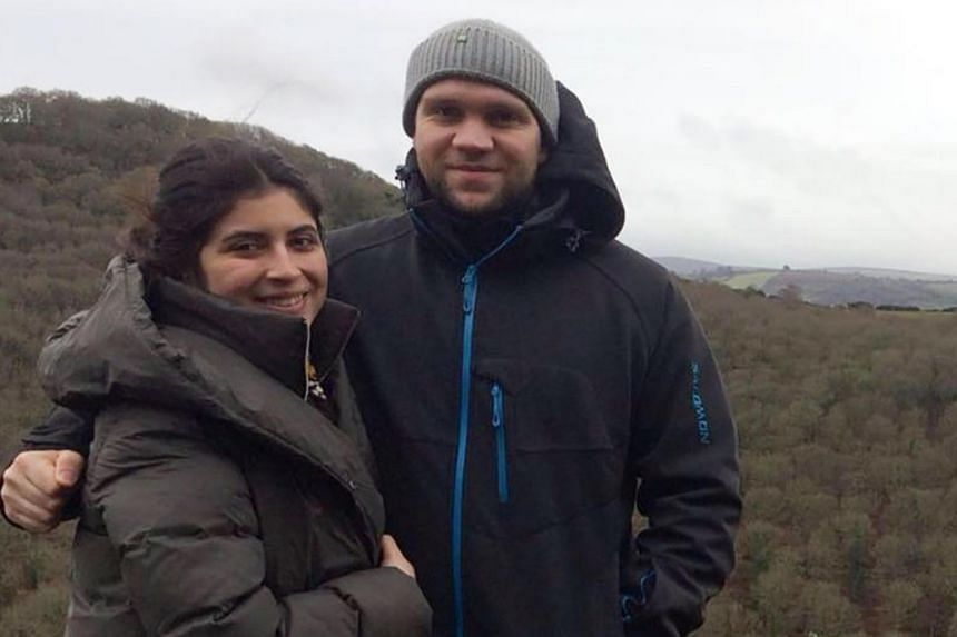 British student Matthew Hedges and his wife Daniela Tejada in family photo. Hedges was sentenced to life in jail on Nov 21, 2018, after he was convicted of spying.