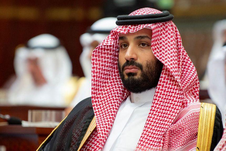 Saudi Crown Prince Mohammed bin Salman attends a session of the Shura Council in Riyadh, Nov 19, 2018.