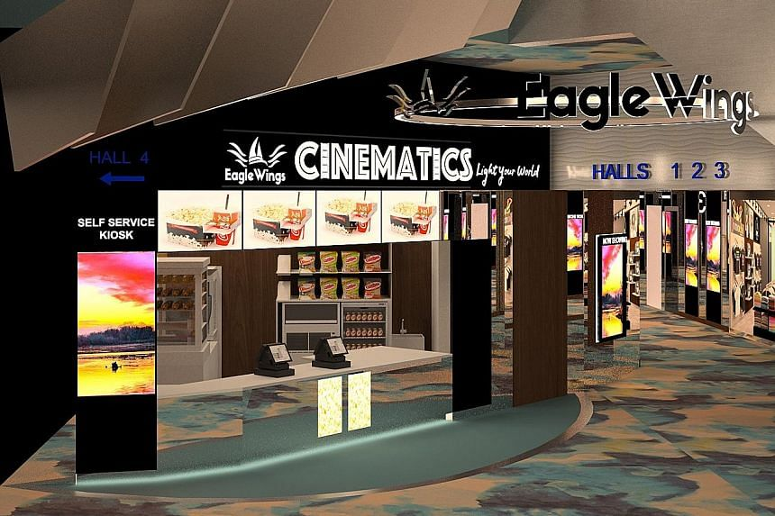 EagleWings Cinematics, located in the King Albert Park Residences Mall, will be opening early next month.