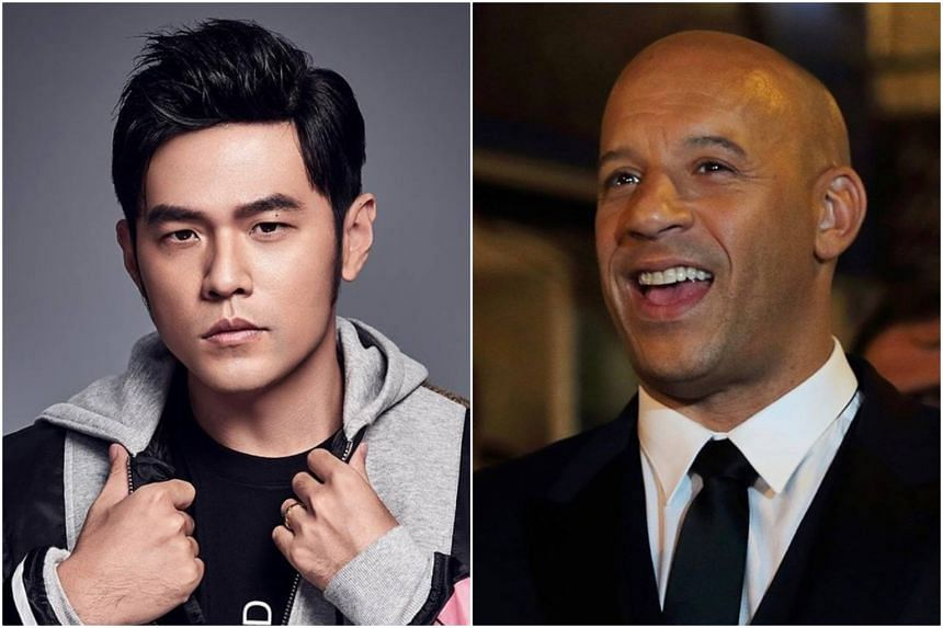 Mandopop goliath Jay Chou (left) will co-star alongside action heavyweight Vin Diesel in the follow-up xXx 4 movie.