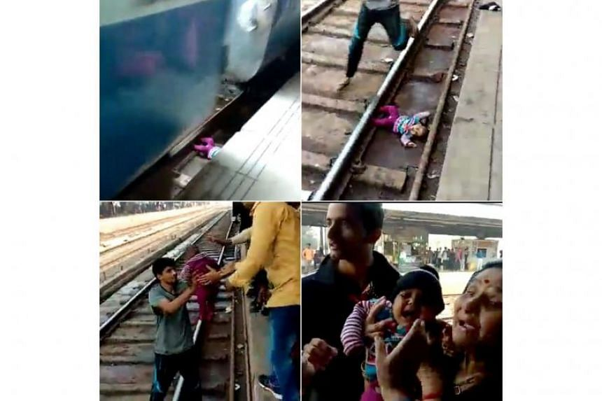 The one-year-old reportedly fell into the gap between the carriage and the platform as the girl's parents were stepping off the train.