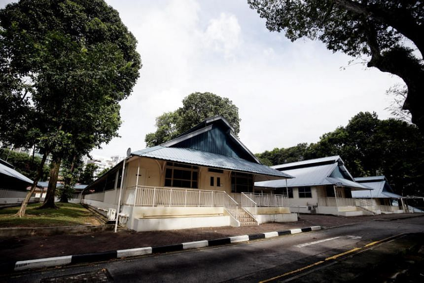 A row of eight single-storey hospital buildings with blue roofs at Moulmein Road, built in the style of military hospitals designed by Florence Nightingale, will be included in the expanded heritage trial of Balestier.