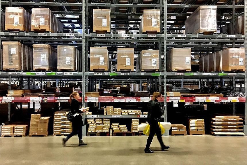 Shoppers in an Ikea store in Stockholm last month. The job cuts planned by the Swedish furniture giant relate to Ingka, the franchisee that owns and operates stores in the United States, Europe and some parts of Asia.