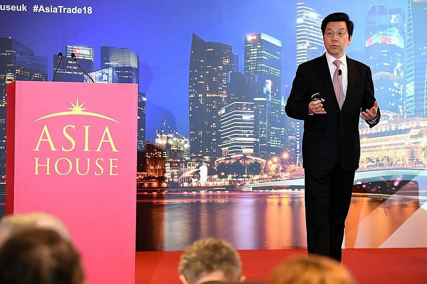"""Well-known AI expert Kai-Fu Lee speaking at a conference in Singapore yesterday. While China has been known to create """"copycat"""" products, it has also built products in the last five years that are worthy of being copied, he said."""