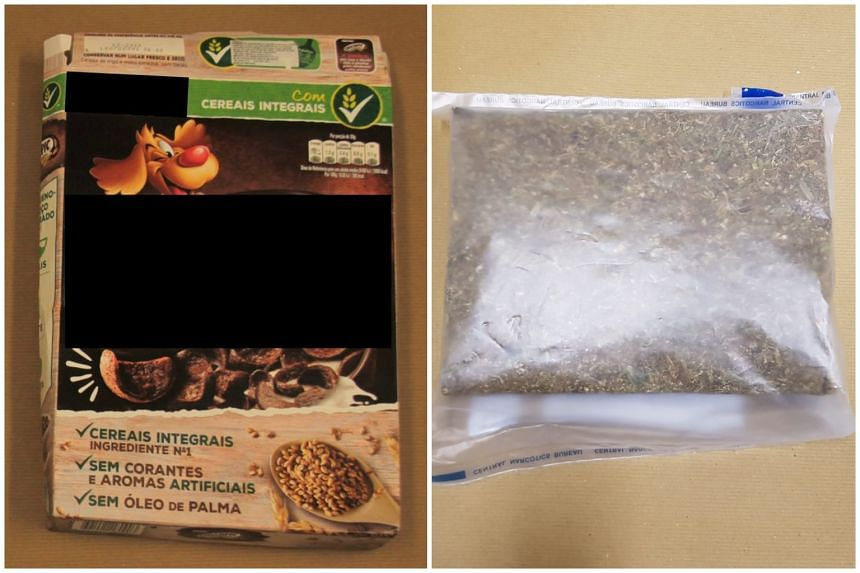 ICA officers found the cereal box containing the package of drugs inside a car driven by a 27-year-old Singaporean man when they directed him for further checks at the checkpoint.