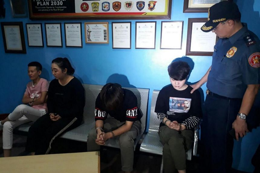 Four suspects, all Chinese, were arrested. No details were released about who they were or what they were doing in the Philippines.