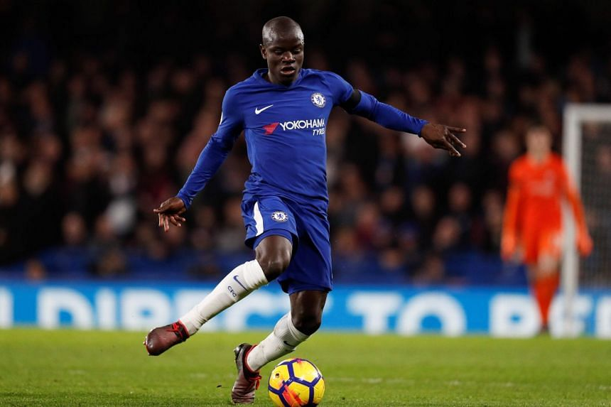 Kante (above), who joined Chelsea in 2016, helped them win the title in his first season at Stamford Bridge.