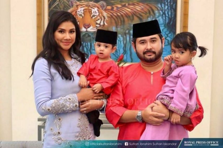 Johor Crown Prince Tunku Ismail Sultan Ibrahim in a family photo with his wife Che Puan Khaleeda Bustamam, son Tunku Iskandar Abdul Jalil, and daughter Tunku Kalsom Aminah Sofiah.