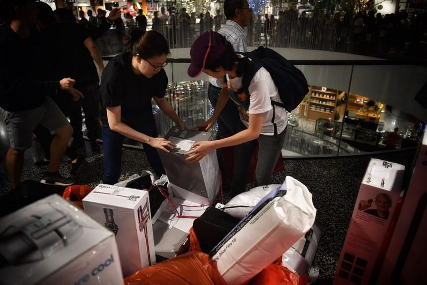 Robinsons started its in-store sale early, at midnight, across all its three stores and will stay open for the 24 hours on Friday.