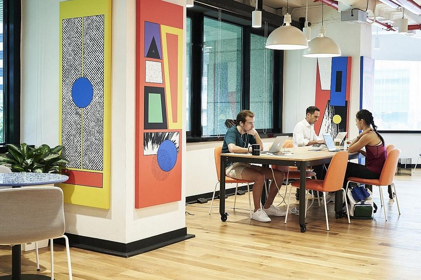 The WeWork City House in Robinson Road, where the new WeWork Labs space is sited. The labs concept was launched early this year with 28 locations in 16 cities. The labs have supported over 1,000 start-ups.