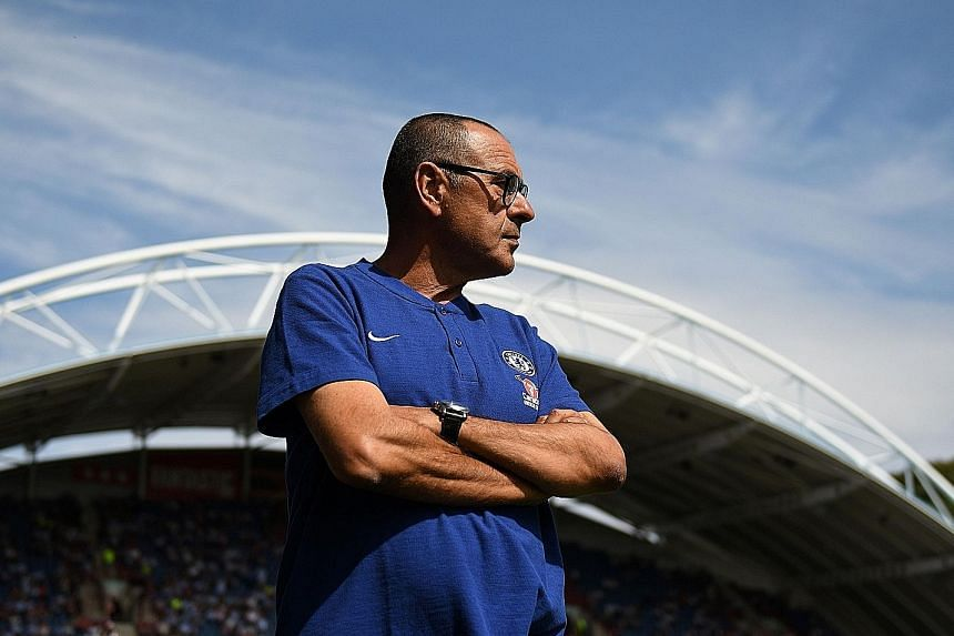 Chelsea manager Maurizio Sarri (above) knows that it is crucial to tie star forward Eden Hazard down at Stamford Bridge, with the club under threat of a transfer ban and therefore unable to sign a replacement in case he leaves.