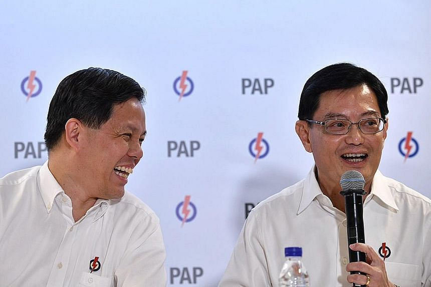 Finance Minister Heng Swee Keat said at the PAP media conference yesterday that he asked Trade and Industry Minister Chan Chun Sing - who has many strengths and would complement him very well - to be his deputy.
