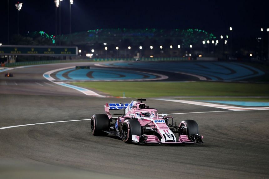 Racing Point Force India's Sergio Perez in action during the second practice session of the Abu Dhabi Grand Prix at Yas Marina Circuit on Nov 23, 2018.