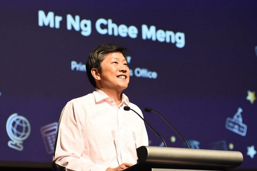 Minister in the Prime Minister's Office Ng Chee Meng speaking at the Dyslexia Association of Singapore's 16th student graduation and achievement awards ceremony on Nov 24, 2018.