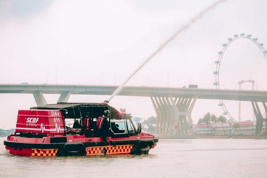 The Dart Amphibious Vehicle can be used for coastal firefighting and water rescues.