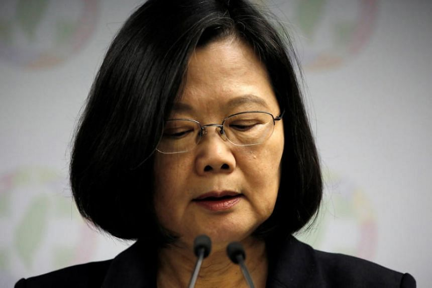 Taiwan's President Tsai Ing-wen has announced she is stepping down as party chairman to take full responsibility for the party's poor performance in the islandwide polls.