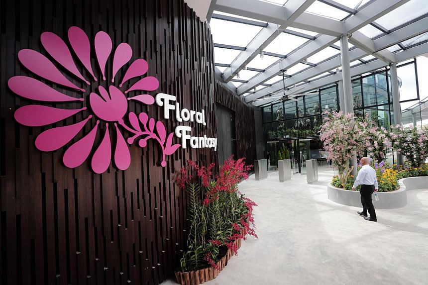 Floral Fantasy, which opens in April 2019, will feature a landscape called Dance with flowering plants, such as orchids, suspended from the ceiling so that they move in a synchronised fashion.