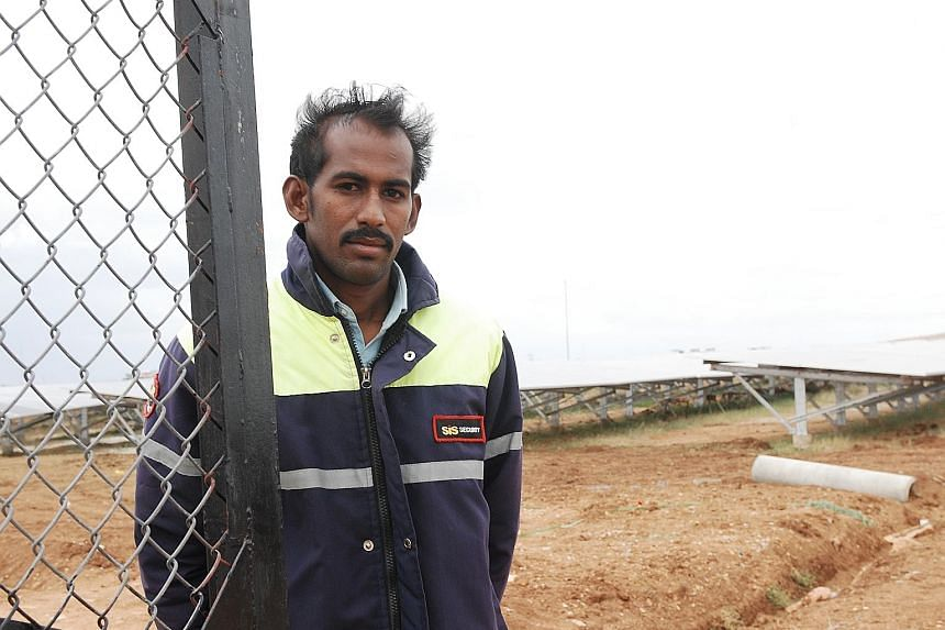 Mr O. Shivanna earns 268,100 rupees (S$5,200) a year from the land that he has leased to KSPDCL. The solar farm has brought in more jobs, bringing back some youth, such as Mr Anand R.A., 26.