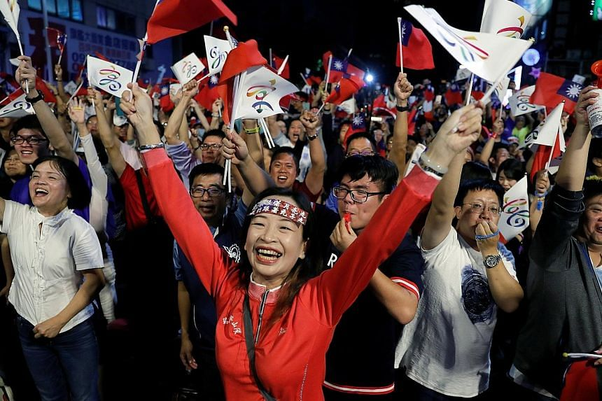 """Taiwan President Tsai Ing-wen last night said """"democracy taught us a lesson today; we have to meet the people's higher expectations"""", after her party's heavy loss."""