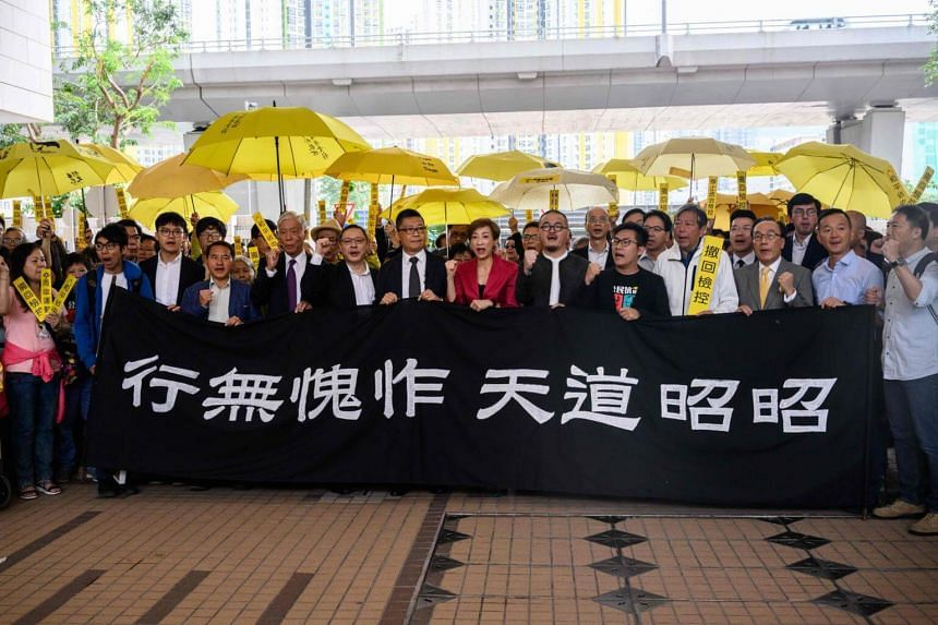 """Nine activists including lawmakers and university professors are now facing public nuisance charges stemming from the massive pro-democracy """"Occupy Central"""" protests in 2014."""