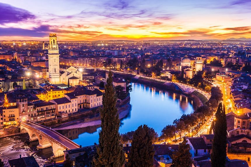 Unesco World Heritage site Verona has plenty of old-world charm, such as a piazza populated by statues of Greek gods.