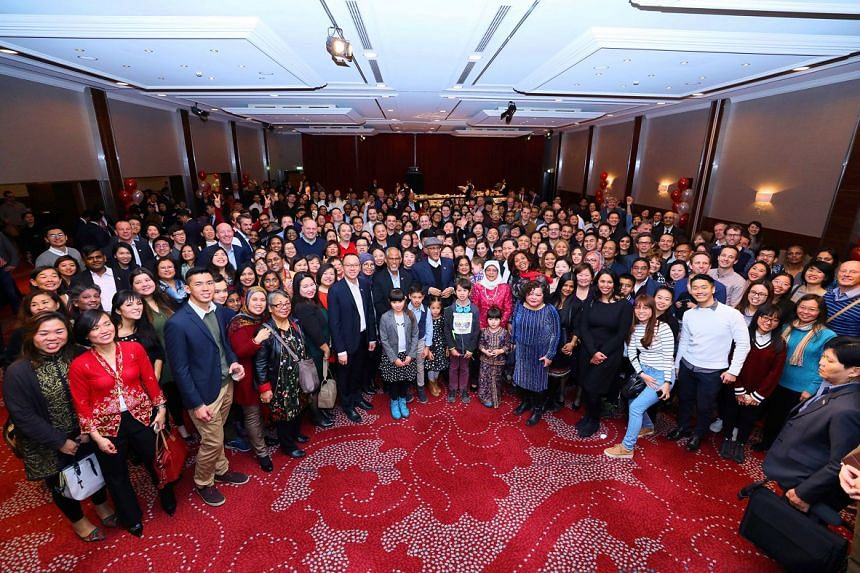 President Halimah Yacob also attended a reception in Amsterdam for overseas Singaporeans last Friday. More than 300 people showed up, some coming from as far as Belgium and Finland.