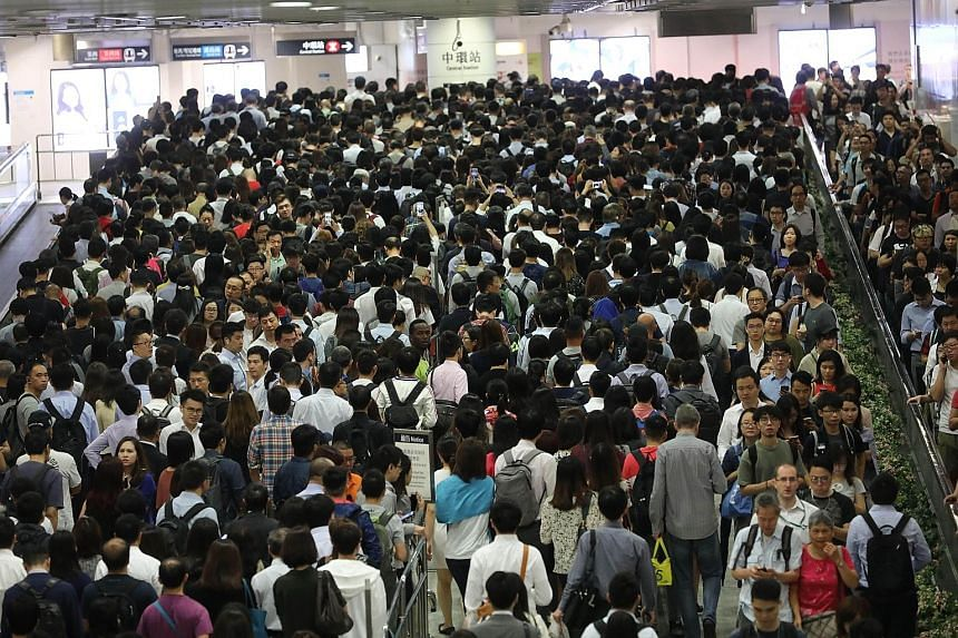 MTR train services were disrupted for six hours last month, inconveniencing hundreds of thousands of commuters. The Hong Kong station on the city's MTR system. The city's entire rail network carries an average of about 5.3 million commuters per day.
