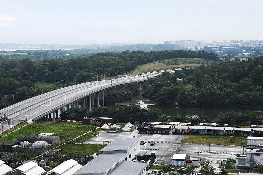 The new road connecting Punggol Central to the Kallang-Paya Lebar Expressway and the Tampines Expressway had originally been slated to open in the third quarter of next year. Some 400 residents were at the road opening yesterday. The new extension to
