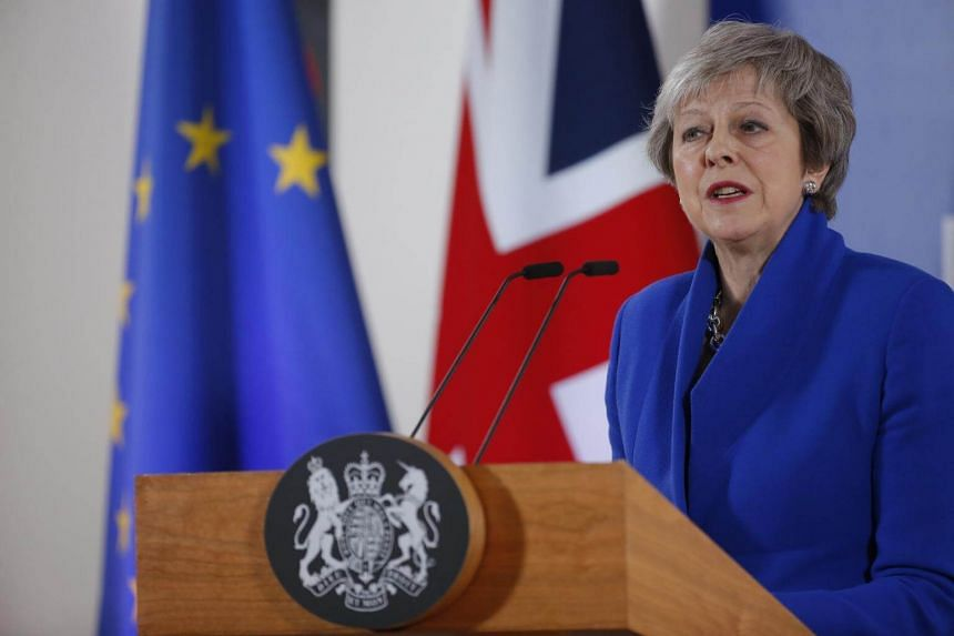 British Prime Minister Theresa May gives a press conference at the end of European council in Brussels, Belgium, on Nov 25, 2018.