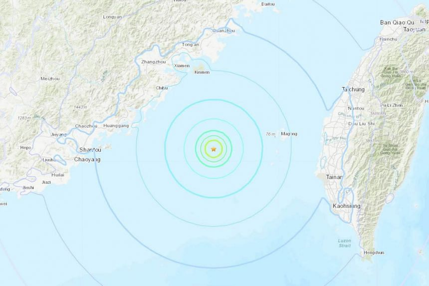 The quake hit around 100km off the island of Penghu in the Taiwan Strait, at a depth of 13km, on Nov 26.
