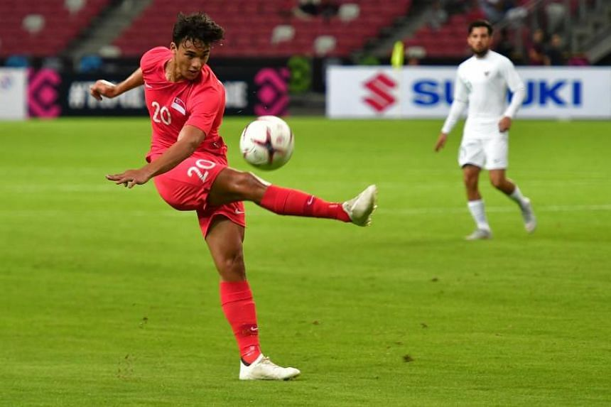 Singapore's Ikhsan Fandi in action at the AFF Suzuki Cup on Nov 9, when the Lions beat Indonesia 1-0 at the National Stadium.