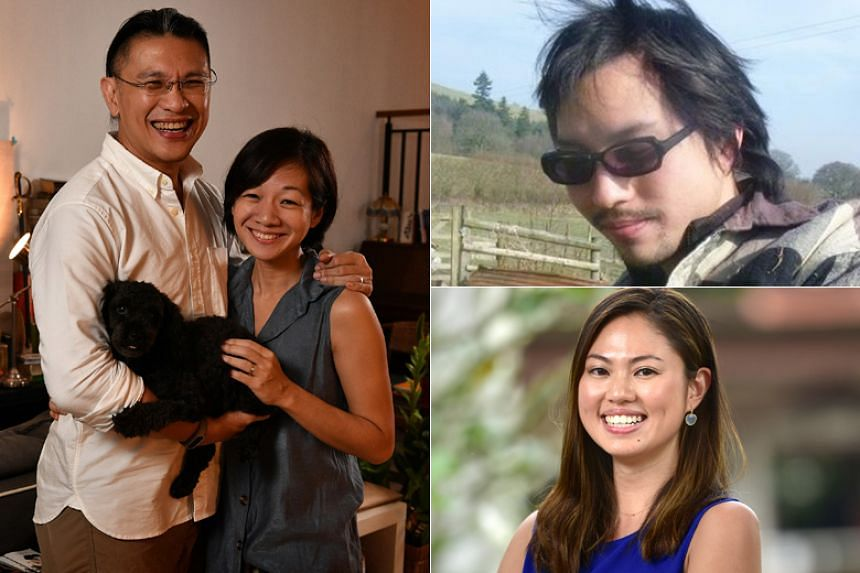 (Clockwise from left) Mr Kenneth Thong and Mrs Adeline Thong, Mr Bjorn Low and Ms Elizabeth Tan, finalists for the fourth edition of The Straits Times Singaporean of the Year.