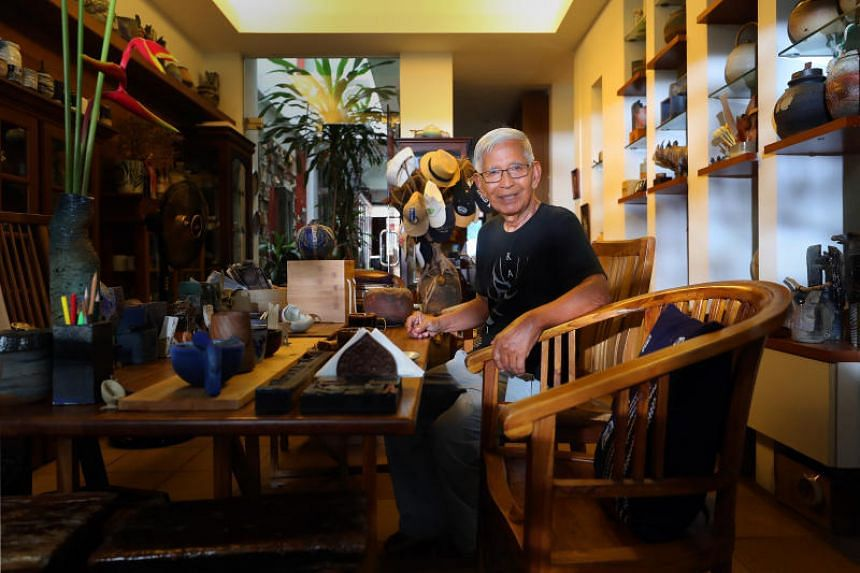 Nearly every corner of master potter Iskandar Jalil's terrace house in Kembangan is filled with some sort of art.