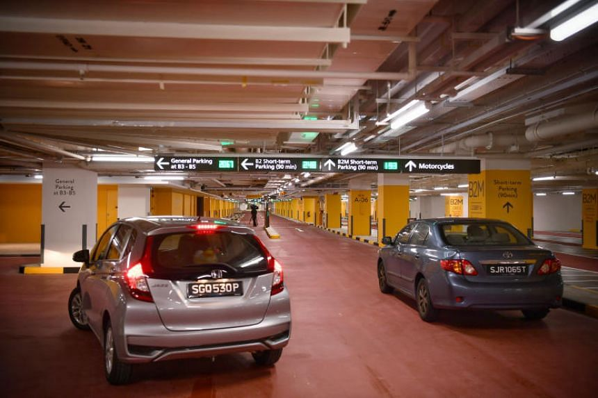 The new Terminal 1 carpark, which spans five underground levels, on Nov 9, 2018.