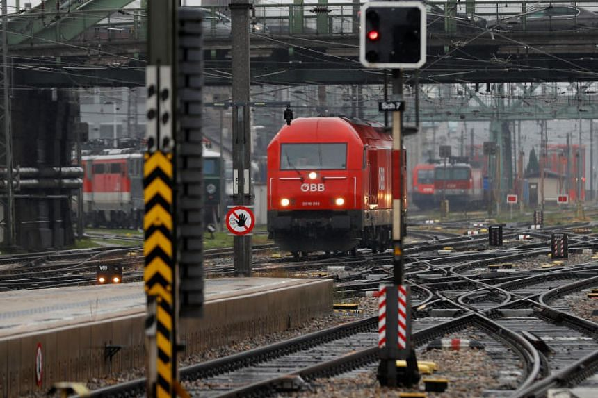 """The main rail workers' union called the """"warning strike"""" to press its demands in the annual pay talks."""