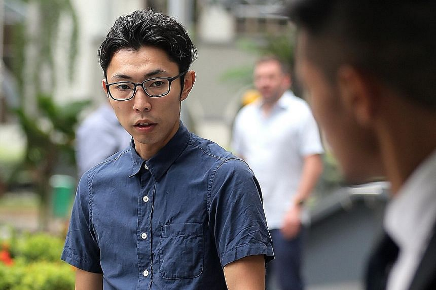 Warehouse manager Wataru Murase was sentenced to eight months and four weeks' jail for entering a women's toilet in Far East Square and molesting a woman in October last year.