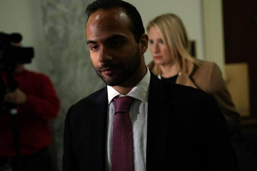 US President Donald Trump's former campaign aide George Papadopoulos at a hearing in Washington DC on Oct 25, 2018. He was jailed two weeks for lying to the US Federal Bureau of Investigation.