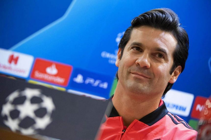 Real Madrid's head coach Santiago Solari attends a press conference in Rome, Italy, on Nov 26, 2018.