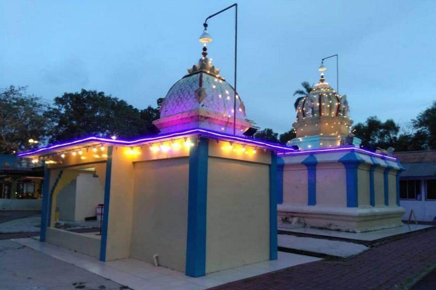 A view of the Sri Maha Mariamman temple, in Subang Jaya, Selangor.