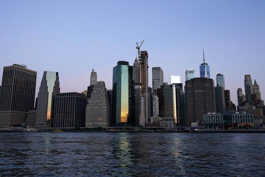The New York City skyline. Tariff-related uncertainty, cooling global demand, rising borrowing costs and plunging oil prices will test the US economy.
