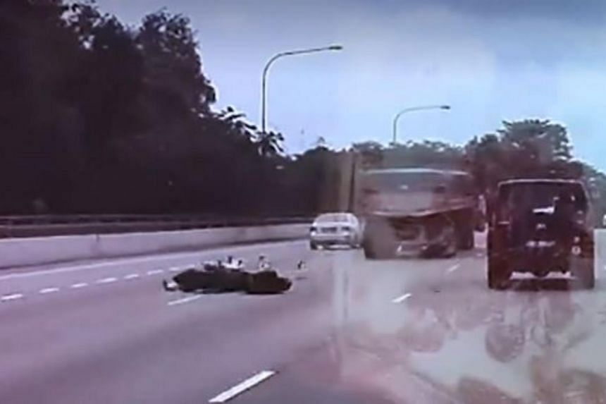 The motorcycle collided with the rear of a trailer along the BKE, leading to the accident on Nov 25, 2018.