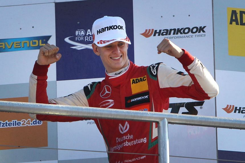 Mick Schumacher won the Formula Three European championship in 2018 with eight wins, seven pole positions and 14 podium finishes.